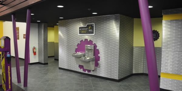 Planet Fitness (Flemington) – Locker Room Entry and Hydration Station